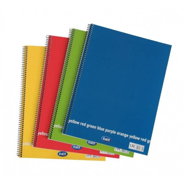 Blocchi notes spiralati Happy Color A4 da 60 fogli a quadretti 5 mm Buffetti