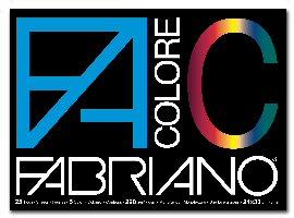 BLOCCO FACOLORE 24X33CM 25FG 220GR 5 COLORI FABRIANO
