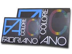 BLOCCO FACOLORE 33X48CM 25FG 220GR 5 COLORI FABRIANO