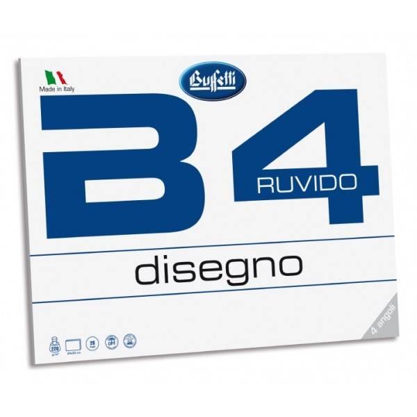 Buffetti Album da disegno B4  fto 24x33 cm Liscio Riquadrato 20 fogli 220 g