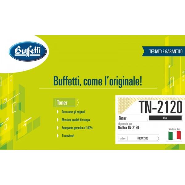 Buffetti Brother Toner - compatibile - TN-2120 - nero