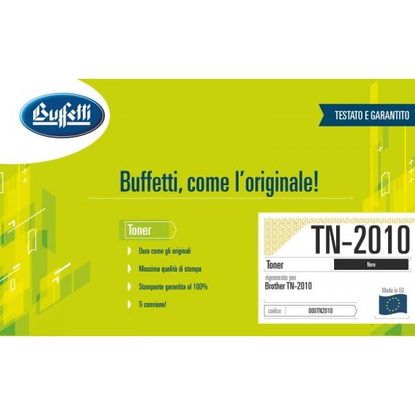 Buffetti Brother Toner - compatibile - TN-2010 - nero