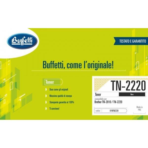 Buffetti Brother Toner - compatibile - TN-2220 - nero