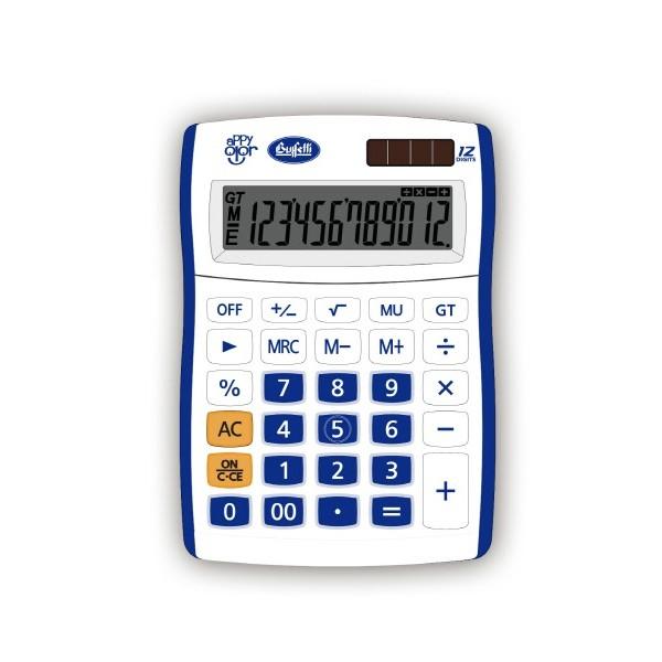 Buffetti Calcolatrice Happy Color Small 12 digit - 90x130 mm - 4 funzioni + memoria Blu