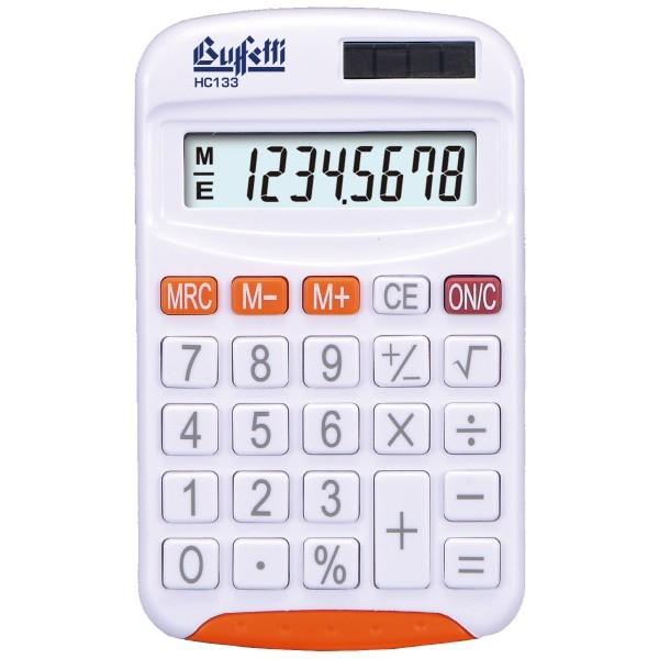 Buffetti Calcolatrice tascabile 8 cifre e display LCD - Arancio