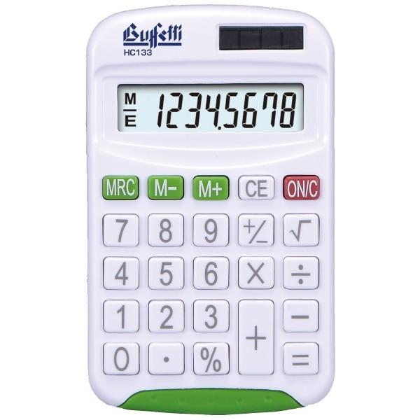 Buffetti Calcolatrice tascabile 8 cifre e display LCD - Verde
