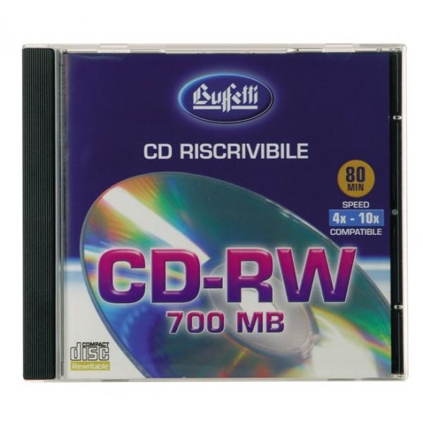 Buffetti Cd-Rw 700 mb - jewel case
