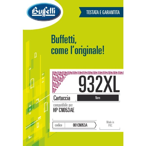 Buffetti HP cartuccia ink jet - compatibile - CN053AE - nero
