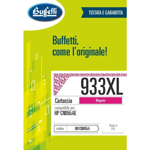Buffetti HP cartuccia ink jet - compatibile - CN055AE - magenta