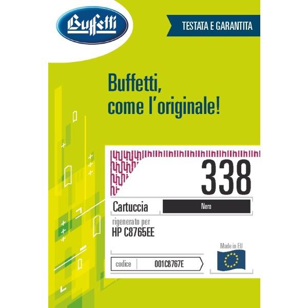 Buffetti HP Cartuccia inkjet - compatibile - C8765EE - nero