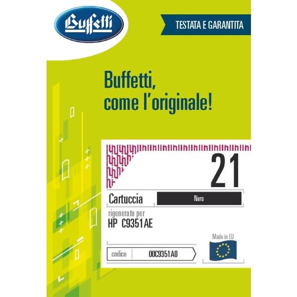 Buffetti HP Cartuccia inkjet - compatibile - C9351A - nero