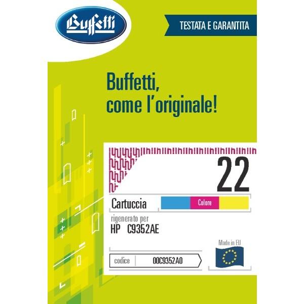 Buffetti HP Cartuccia inkjet - compatibile - C9352A - 3 colori