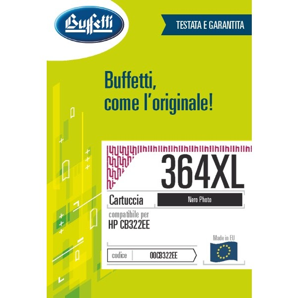 Buffetti HP Cartuccia inkjet - compatibile - CB322EE - photo nero