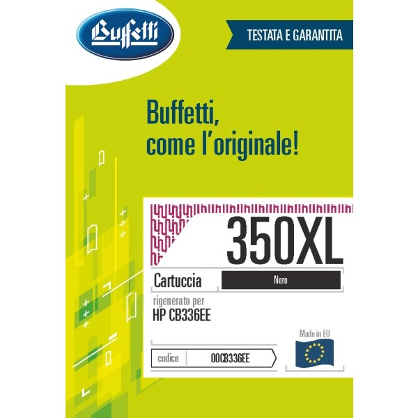 Buffetti HP Cartuccia inkjet - compatibile - CB336EE - nero