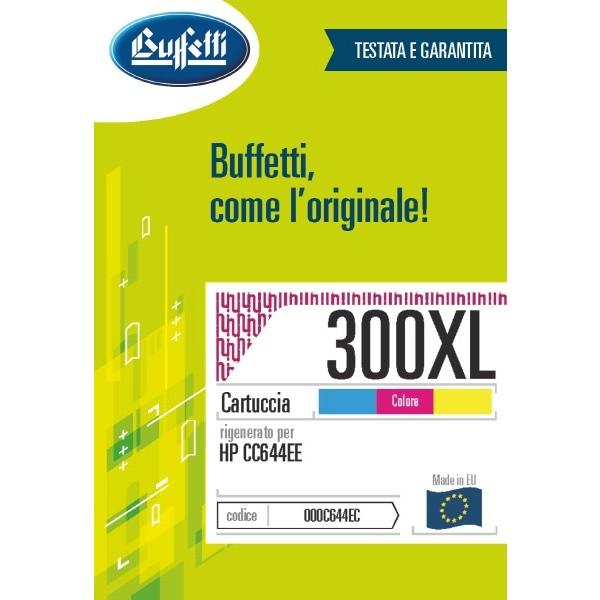 Buffetti HP Cartuccia inkjet - compatibile - CC644EE - 3 colori