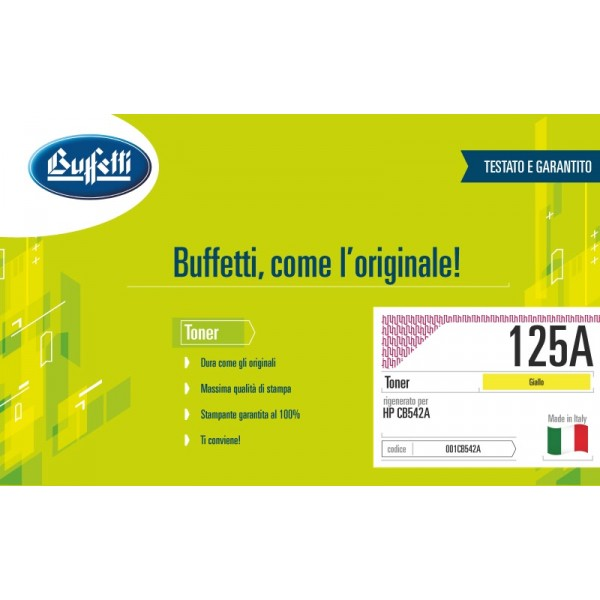 Buffetti HP Toner - compatibile - CB542A - giallo