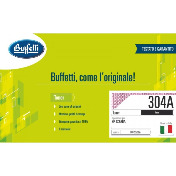 Buffetti HP Toner - compatibile - CC530A - nero