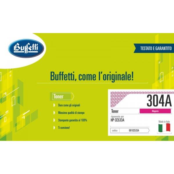 Buffetti HP Toner - compatibile - CC533A - magenta