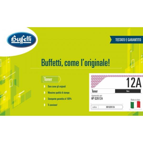 Buffetti HP Toner - compatibile - Q2612A - nero