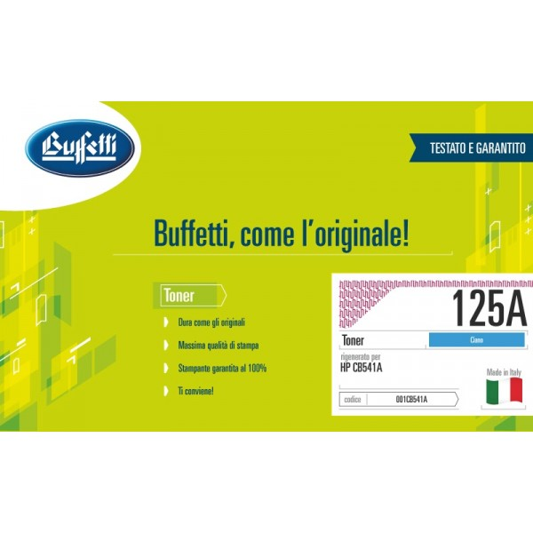 Buffetti HP Toner - compatibile - CB541A - ciano