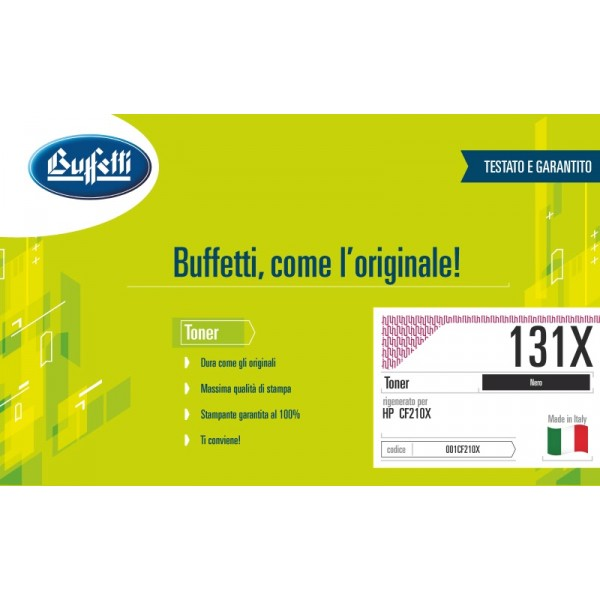 Buffetti HP Toner - compatibile - CF210X - nero