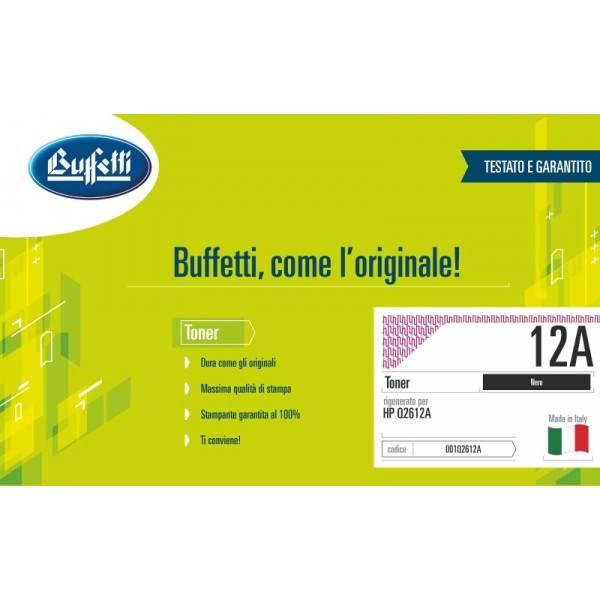 Buffetti HP Toner - compatibile - Q2612A - nero