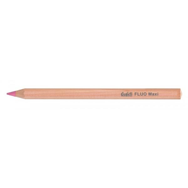 Buffetti Matitone fluo rosa in legno 10mm