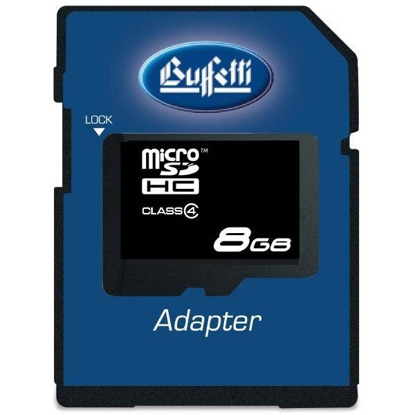Buffetti MicroSD Card 8GB con adattatore