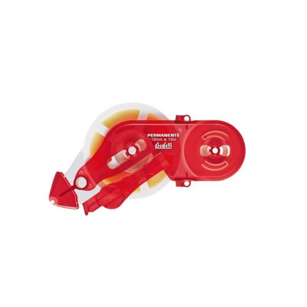 Buffetti Ricarica colla roller 15mm x 12 m removibile Rosso