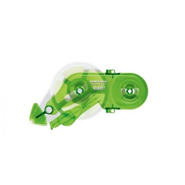 Buffetti Ricarica colla roller 15mm x 12 m removibile Verde
