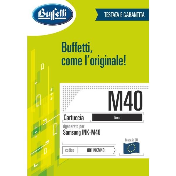 Buffetti Samsung Cartuccia inkjet - compatibile - INKM40 - nero