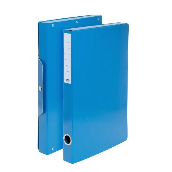 Buffetti Scatola progetti con bottone - Dorso 3 cm - 34x24 cm - blu