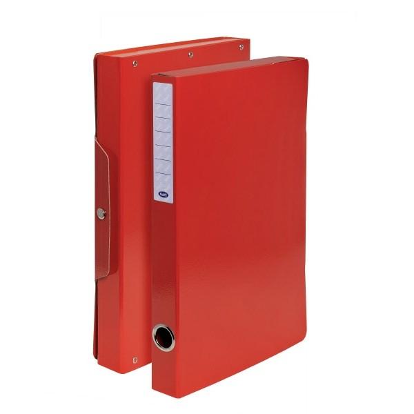 Buffetti Scatola progetti con bottone - Dorso 3 cm - 34x24 cm - rosso