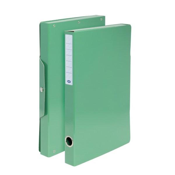Buffetti Scatola progetti con bottone - Dorso 3 cm - 34x24 cm - verde