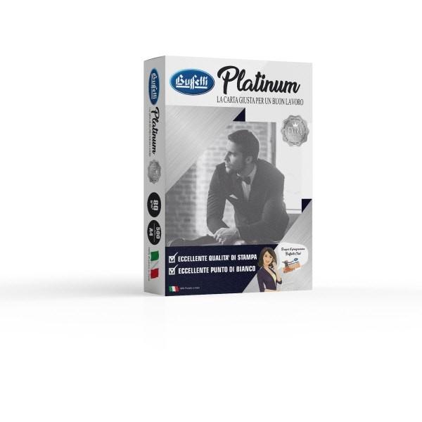 Carta per fotocopie Buffetti Platinum A4 80 g
