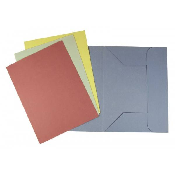 Cartelline a tre lembi senza stampa - Verde - 180 g-mq