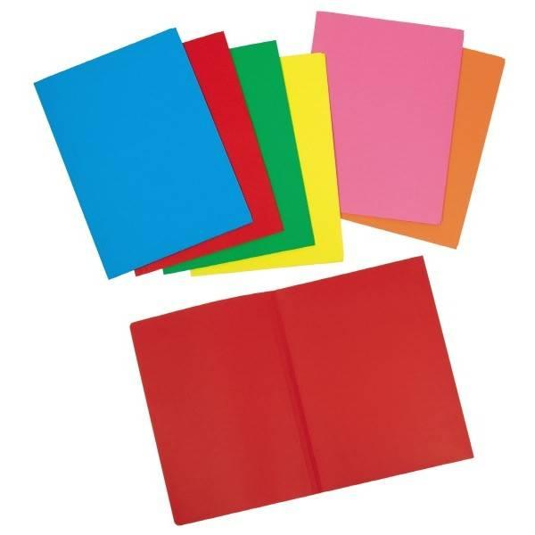 Cartelline semplici Arcobaleno - Rosso - cartoncino 190 g-mq- 3 Confezioni