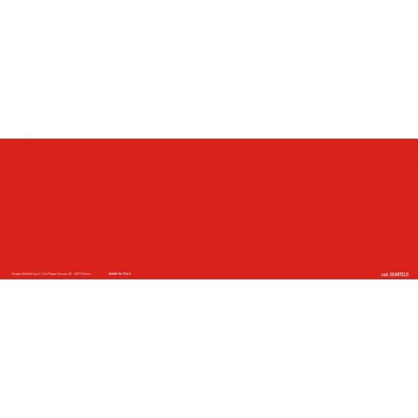 Cartello adesivo calpestabile 30x10 cm - RETTANGOLO ROSSO