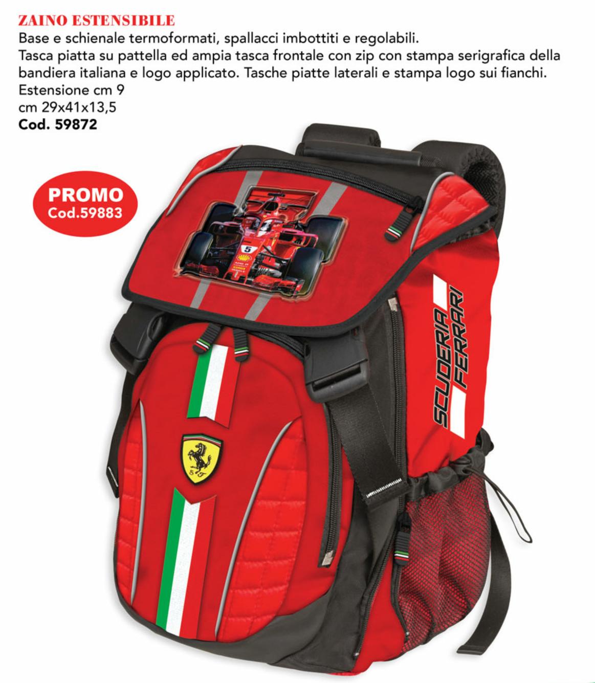Comix Zaino Estensibile Ferrari