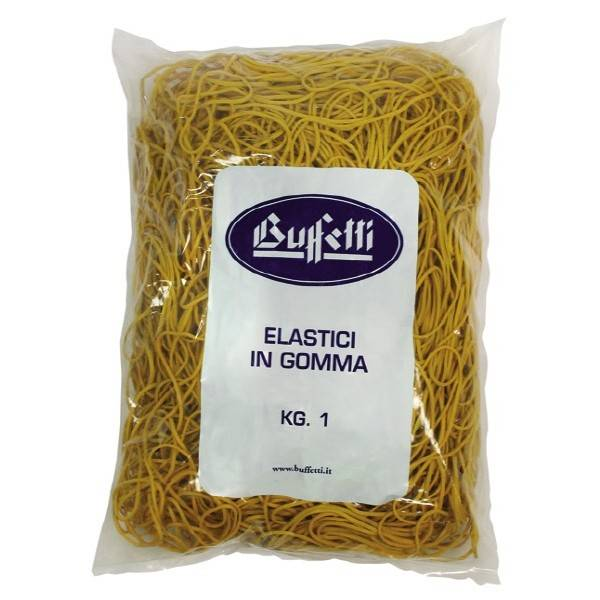 Elastici in gomma Misura ø 120 x 1,6 mm conf 1000 g Buffetti