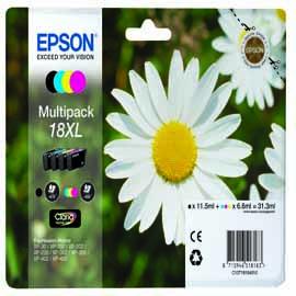 EPSON MULTIPACK 18XL  N.4 CARTUCCE MARGHERITA