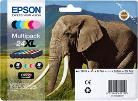 EPSON MULTIPACK 24XL N.6 CARTUCCE NERO CIANO MAGENTA GIALLO