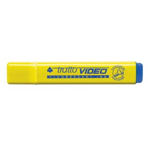 Evidenziatore con punta a scalpello giallo tratto 1.5 mm Tratto Video