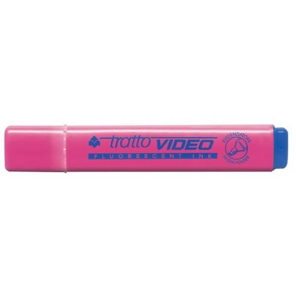 Evidenziatore con punta a scalpello rosa tratto 1.5 mm Tratto Video