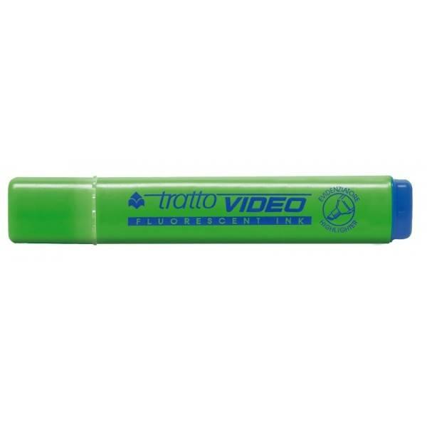 Evidenziatore con punta a scalpello verde tratto 1.5 mm Tratto Video