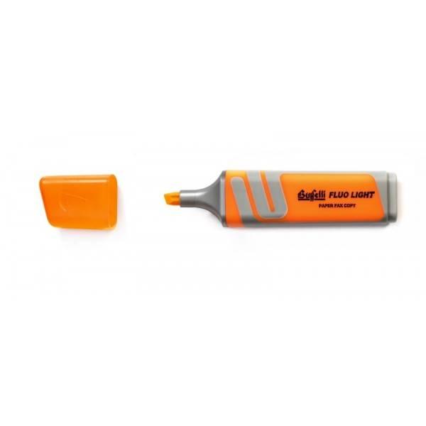Evidenziatore fluorescente arancio con punta a scalpello Tratto 2.5 mm Buffetti