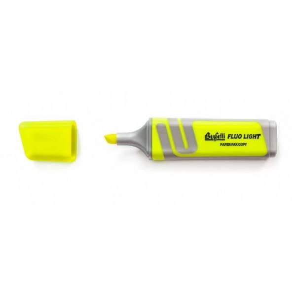 Evidenziatore fluorescente giallo con punta a scalpello Tratto 2.5 mm Buffetti