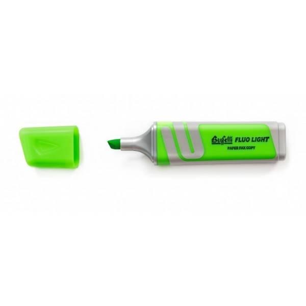 Evidenziatore fluorescente verde con punta a scalpello Tratto 2.5 mm Buffetti
