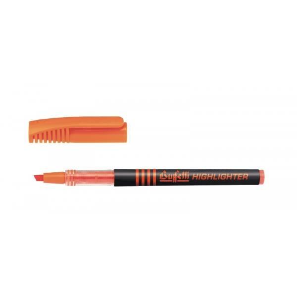 Evidenziatore liquido con punta a scalpello tratto 1.4 mm arancio Buffetti