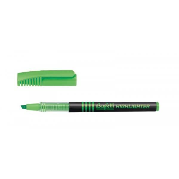 Evidenziatore liquido con punta a scalpello tratto 1.4 mm verde Buffetti